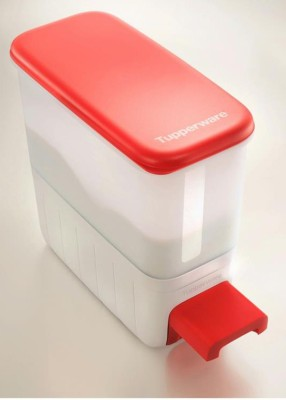 Tupperware  - 10 L Polypropylene Grocery Container(White, Red) at flipkart