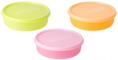 Nayasa  - 700 ml Plastic Grocery Container(Pack of 3, Multicolor)  available at flipkart for Rs.200
