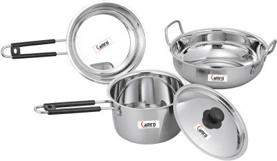 Camro Cookware Set  Stainless Steel, 2   Piece  Combo Set Cookware Set Stainless Steel, 2   Piece Camro Cookware Sets