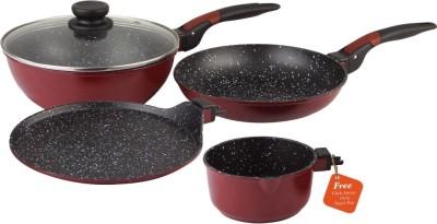 Wonderchef Wonderchef Click Amaze Set Induction Bottom Cookware Set(PTFE (Non-stick), 4 - Piece)  available at flipkart for Rs.3499