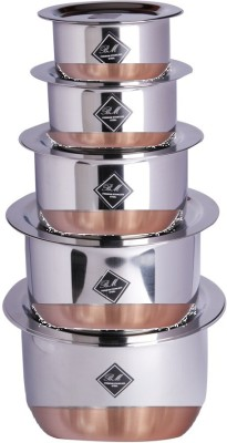 KCL Copper Bottom Tope   Lids Cookware Set Stainless Steel, 10   Piece KCL Cookware Sets