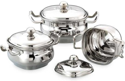 Airan Cookware Set(Stainless Steel, 3 - Piece) at flipkart