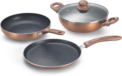 Prestige Omega Festival Pack - Build Your Kitchen Induction Bottom Cookware Set(Aluminium, 3 - Piece)  available at flipkart for Rs.1499