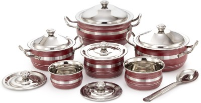65d2415d222 54% OFF on Mahavir 13PCRD Induction Bottom Cookware Set(Stainless Steel