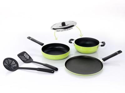 Sumeet Nonstick Festive Six Cookware Set Aluminium, 6   Piece Sumeet Cookware Sets