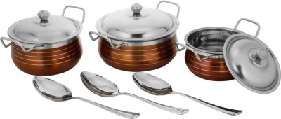 Classic Essentials Induction Bottom Cookware Set(Stainless Steel) at flipkart