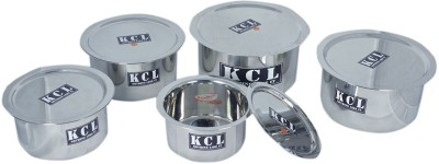 KCL Tope & Lid Induction Bottom Cookware Set(Stainless Steel, 10 - Piece) at flipkart