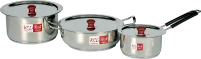 KCL Tope, Kadhai & Saucepan Induction Bottom Cookware Set(Stainless Steel, 5 - Piece) at flipkart