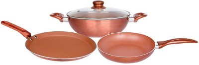 Wonderchef Diva Essential Induction Bottom Cookware Set(Aluminium, 4 - Piece) at flipkart