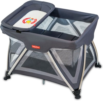 Fisher-Price Trance Portable Cot(Grey) at flipkart