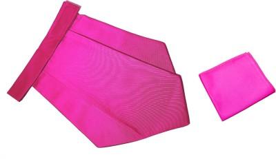 Mentiezi Classic Plain Cravat with Pocket Square Cravat(Pack of 1)