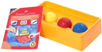 Faber-Castell Ball Shaped Wax Crayons(Set of 3, Multicolor)
