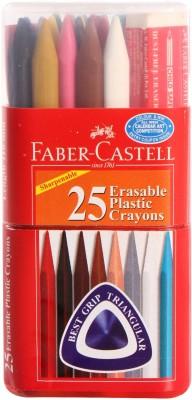 Faber-Castell Triangular Erasable Plastic(Set of 1, Multicolor)