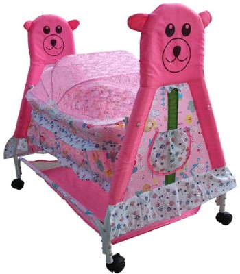Mofaro Royal Look Baby Cradle(Pink, White) at flipkart