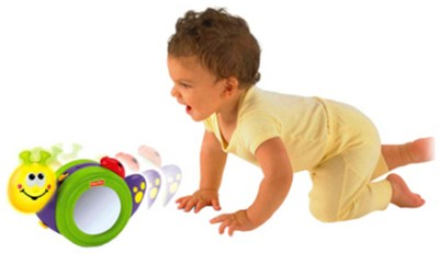 Fisher-Price Go Baby Go 1-2-3 Crawl Along Snail  available at flipkart for Rs.1799