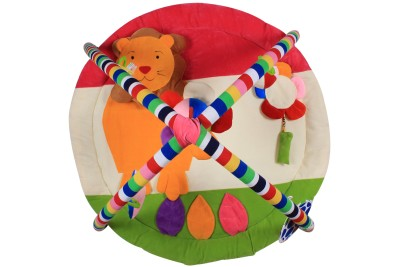 Ole Baby Twist and Fold Musical Activity Newborn PlayMat With Mosquito Net(Multicolor)
