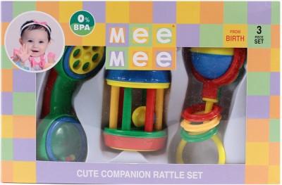 Meemee Rattles Gift Set - 3pcs(Multicolor)