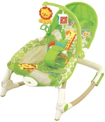 Just Toys Newborn-To-Toddler Portable Rocker Multifunctional Baby Rocking Chair Appease Vibrating.(Green)