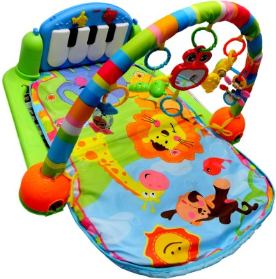 Bubble Hut Baby Grow Multifunction Soft Baby Play Mat Activity Piano Pedal Pay Gym(Multicolor)