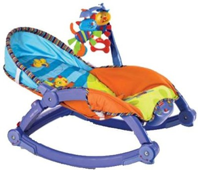 Tiny Mynee Newborn-To-Toddler Portable & Folding Rocker Cum Chair With Soothing Vibration & Musical Toy(Multicolor)  available at flipkart for Rs.2499