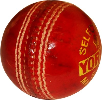 YORKER 2 pc Cricket Leather Ball Pack of 1, Red YORKER Cricket Balls