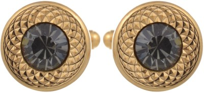 Tripin Brass Cufflink(Gold, Grey) at flipkart