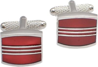 Alvaro Brass Cufflink Set(Maroon)