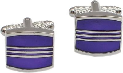 Alvaro Brass Cufflink Set(Purple)