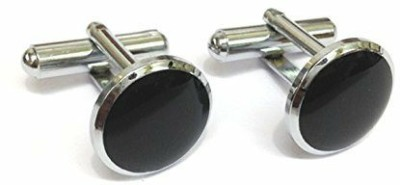 Bezel Brass Cufflink(Black)