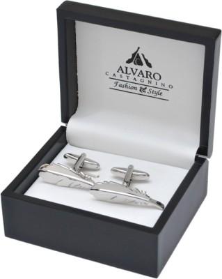 Alvaro Brass Cufflink Set(Silver)