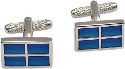 Alvaro Brass Cufflink Set(Blue)