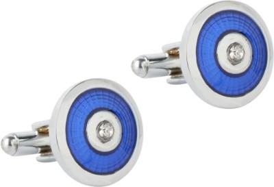 Tripin Brass Cufflink & Tie Pin Set(Blue)
