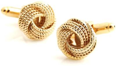 Peluche Brass, Metal Cufflink Set(Gold) at flipkart