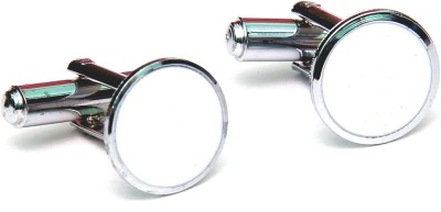 Civil Outfitters Metal cufflink(White, Silver)  available at flipkart for Rs.209