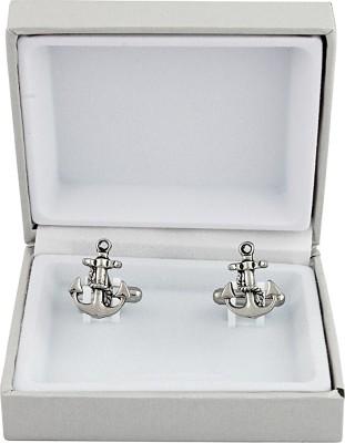 Maruti Tie Metal Cufflink(Silver)