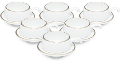 Clay Craft Pack of 12 Bone China(Multicolor)
