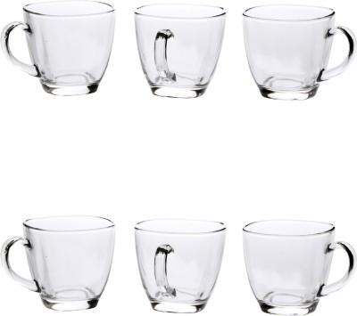 Bloom New Designer Tea Cup_01114 Glass Mug(110 ml, Pack of 6) at flipkart