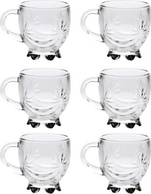 Bloom New Designer Tea Cup_01117 Glass Mug(110 ml, Pack of 6) at flipkart