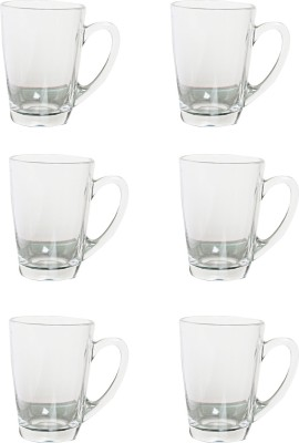 LUMINARC New Morning Office Tea Set Glass(White, Pack of 8)