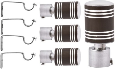 HOMEDECORHD Brown Curtain Knobs(Pack of 4) at flipkart