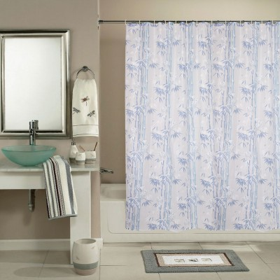 Katwa Clasic PVC Grey Printed Curtain Shower Curtain 198 cm in ...