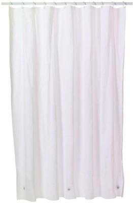 Lithara PVC Shower Curtain 24384 Cm 8 Ft Single CurtainPlain Transparent