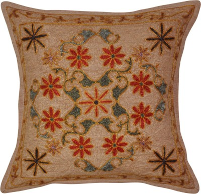 Lal Haveli Embroidered Cushions Cover(41 cm*41 cm, Brown) at flipkart