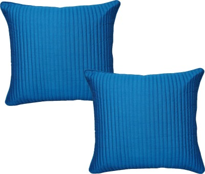 HOME SHINE Striped Cushions Cover(Pack of 2, 40 cm*40 cm, Blue) at flipkart