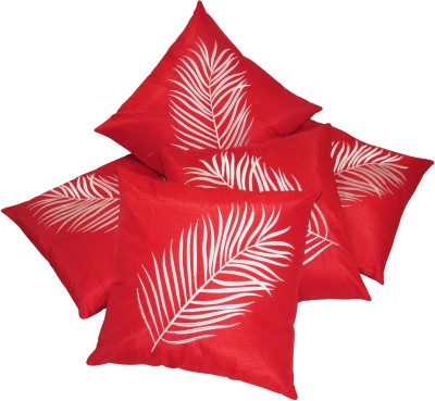 Zikrak Exim Embroidered Cushions Cover(Pack of 5, 40 cm*40 cm, Red) at flipkart
