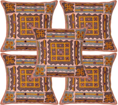 Lal Haveli Abstract Cushions Cover(Pack of 5, 40 cm*40 cm, Multicolor) at flipkart