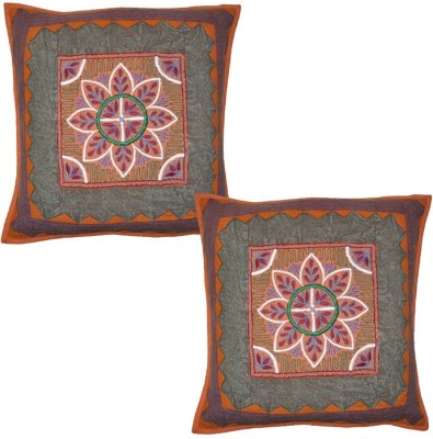 Lal Haveli Embroidered Cushions Cover(Pack of 2, 41 cm*41 cm, Multicolor) at flipkart