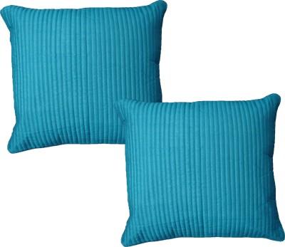 HOME SHINE Striped Cushions Cover(Pack of 2, 40 cm*40 cm, Blue) at flipkart