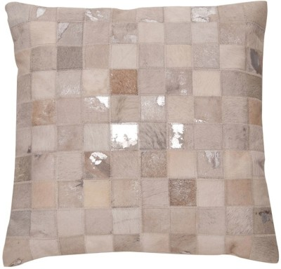 Justanned Checkered Cushions Cover(50 cm*50 cm, Silver) at flipkart