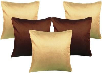 Decor Bazaar Plain Cushions Cover(Pack of 5, 40 cm*40 cm, Brown, Beige) at flipkart